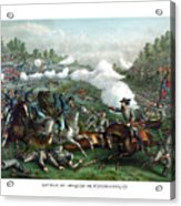 The Battle Of Winchester Acrylic Print