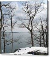 The Bay In Winter Acrylic Print