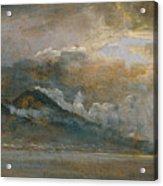 The Bay Of Naples With Vesuvius Acrylic Print