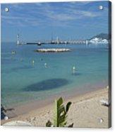 The Beach At Cannes Acrylic Print