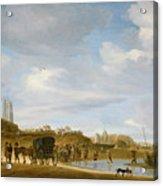The Beach At Egmond An Zee Acrylic Print