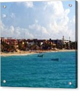 The Beach At Playa Del Carmen Acrylic Print