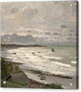 The Beach At Sainte Adresse Acrylic Print by Claude Monet