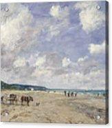The Beach At Tourgeville Acrylic Print by Eugene Louis Boudin