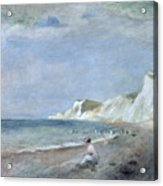 The Beach At Varangeville Acrylic Print by Renoir