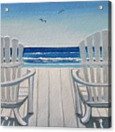 The Beach Chairs Acrylic Print