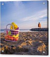 The Beach Is Calling Acrylic Print