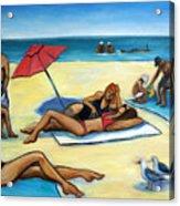 The Beach Acrylic Print by Valerie Vescovi