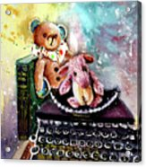 The Bear And The Sheep And The Typewriter From Whitby Acrylic Print