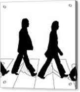 The Beatles Abbey Road Silhouette Drawing Acrylic Print