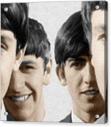 The Beatles Painting 1963 Color Acrylic Print
