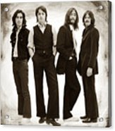 The Beatles Painting Late 1960s Early 1970s Sepia Acrylic Print