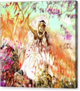 The Beautiful Black Bride Acrylic Print