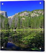 The Beautiful Nymph Lake With Reflection And Clear Water Acrylic Print