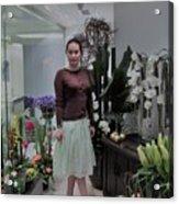 The Beautiful Young Woman Acrylic Print