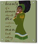 The Beauty Of A Woman Acrylic Print