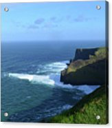 The Beauty Of Ireland's Cliff's Of Moher And Galway Bay  Acrylic Print