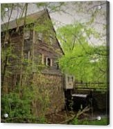 The Beauty Of The West Point On The Eno Grist Mill - Durham, N.c. Acrylic Print