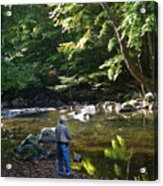 The Beauty Of Trout Fishing 2 - Original Photography Acrylic Print