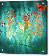The Bee And Butterfly Acrylic Print