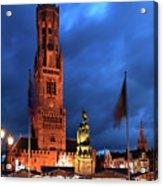 The Belfort Tower, Belfry, Bruges City, West Flanders Acrylic Print