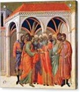 The Betrayal Of Judas 1311 Acrylic Print