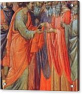 The Betrayal Of Judas Fragment 1311 Acrylic Print