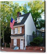 The Betsy Ross House Philadelphia Acrylic Print by Bill Cannon