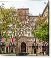 The Beverly Hills Wilshire Acrylic Print