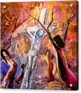 The Bible Crucifixion Acrylic Print