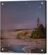 The Big Dipper In Yellowstone National Park Acrylic Print