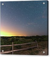 The Big Dipper Over The Lights Of Provincetown Ma Acrylic Print