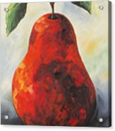 The Big Red Pear Acrylic Print