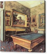 The Billiard Room At Menil-hubert Acrylic Print