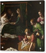 The Birth Of The Virgin Acrylic Print