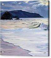 The Black Rock Widemouth Bay Acrylic Print