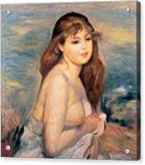 The Blonde Bather Acrylic Print