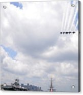 The Blue Angels Flying Over Uss Constitution Acrylic Print