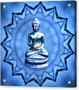 The Blue Buddha Meditation Acrylic Print