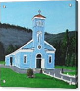 The Blue Church Acrylic Print