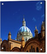 The Blue Domes Of Cuenca, Ecuador Acrylic Print