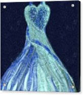 The Blue Dress Acrylic Print