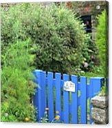 The Blue Gate Acrylic Print