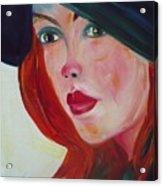 The Blue Hat Acrylic Print
