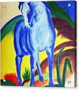 The Blue Horse Franc Marz Acrylic Print