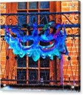 The Blue Mask Acrylic Print