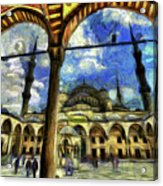 The Blue Mosque Istanbul Art Acrylic Print