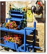 The Blue Wheelbarrow Acrylic Print