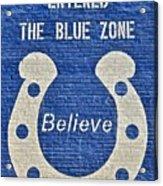 The Blue Zone Acrylic Print