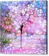 The Blushing Tree In Bloom Acrylic Print